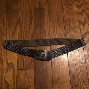 Vintage Chainmail Scale Flower Metal Belt Renfest